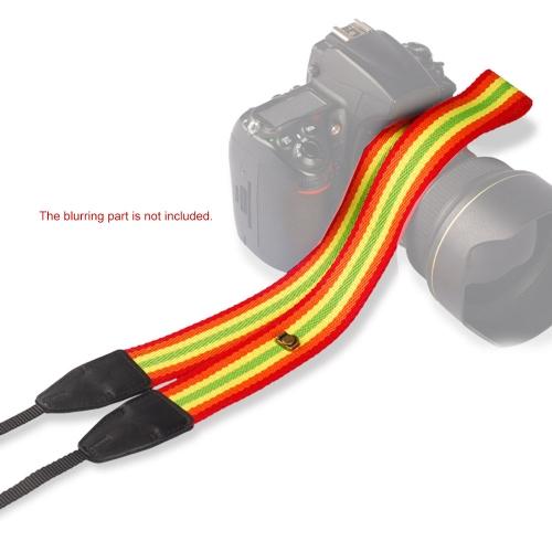 Caméra cou Stripe Pattern sangle bandoulière pour Sony Nikon Canon Olympus Panasonic Pentax DSLR SLR