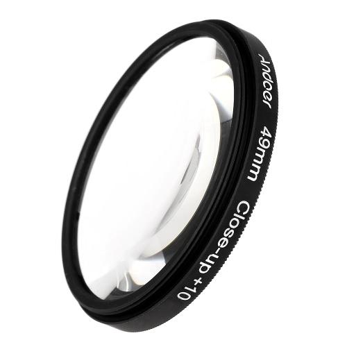 Andoer 49 milímetros Macro close-up filtro definido + 1 + 2 + 4 + 10 com bolsa para Nikon Canon Sony DSLRs