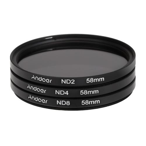 Kit filtro fotografico Fader ND di Andoer 58mm Kit di filtri per la densità neutra