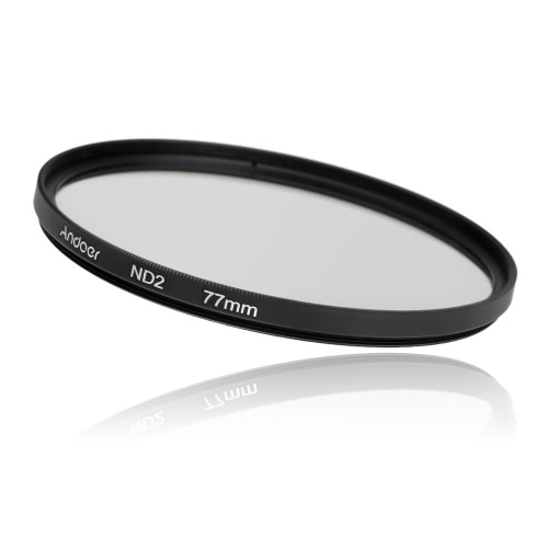 Andoer 77mm Fader ND Filter Kit Neutral Density Photography Filter Set (ND2 ND4 ND8) for Nikon Canon Sony Pentax DSLRs