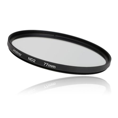 Andoer 77mm Fader ND filtr Neutral Density Kit fotografia Filter Set (ND2 ND4 ND8) dla Nikon Canon Sony Pentax lustrzanek