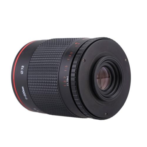 Edoardo 500mm f/8,0 teleobiettivo specchio lente con T Mount per Canon EOS 1D Mark IV III II 5 7 doppie 60 D Nikon DSLR fotocamera