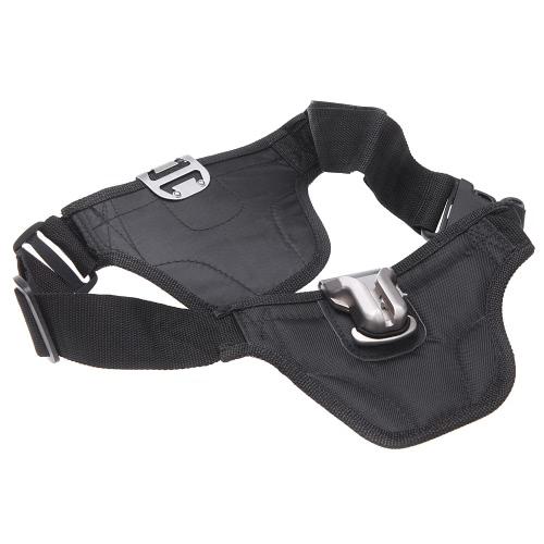 La correa de cintura Cinturón con Montaje del sostenedor doble para DSLR cámara Hebilla Doble Colgador Holster Doble para Canon Nikon Pentax DSLR