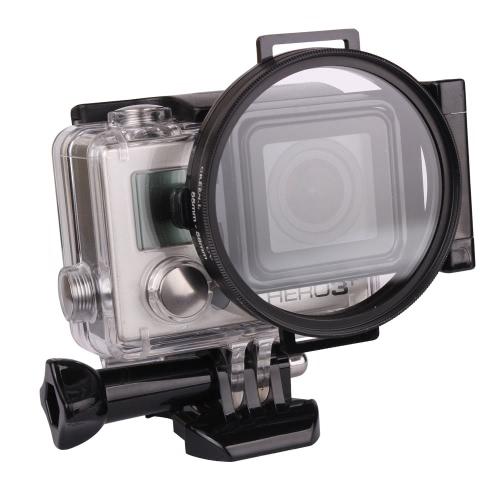 Andoer 58mm Anneau adaptateur de filtre en aluminium pour caméra GoPro Hero Sport 3/3 + / 4