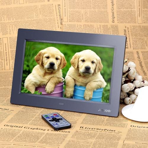 """Andoer 10 """"HD TFT-LCD 1024 * 600 Cyfrowy album fotograficzny Zegar Zegar MP3 MP4 Player z pilotem"""
