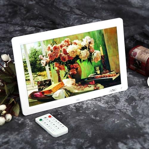 """Andoer 12 """"HD TFT-LCD 1280 * 800 Wyświetlacz pełnoekranowy Zegar cyfrowy Zegar Zegar Filmowy MP3 MP4 z Remote Desktop"""