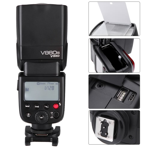 godox ving v860n i-ttl flash chargeable battery speedlite for nikon d7000 d90 dslr