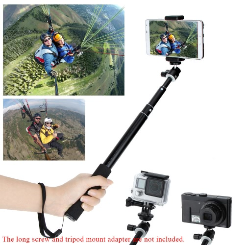 Telescopic Extendable Wireless Bluetooth Remote Shutter Control Shooting Handheld Underwater Diving Monopod Grip Pole Stick for iPhone Samsung Sony IOS Andriod 4.3 or above Smartphones GoPro SJCAM Mirrorless Camera