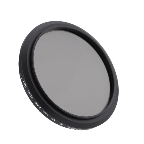 62mm ND Fader Neutral Density Einstellbare ND2 zu ND400 Variable Filter für Canon Nikon DSLR-Kamera