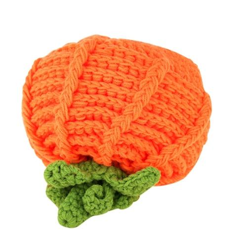 Baby Infant Pumpkin Bernat Hat Cap Crochet Knitting Costume Soft Adorable Clothes Photo Photography Props for Newborns