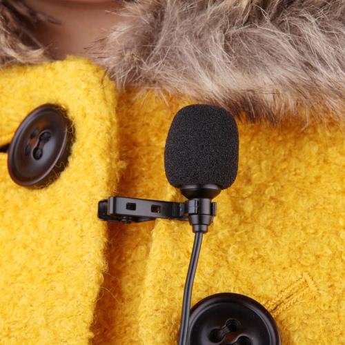 Clip cravate Métal Mono Microphone 3,5 mm avec collier Clip pour Lound Président ordinateur PC portable
