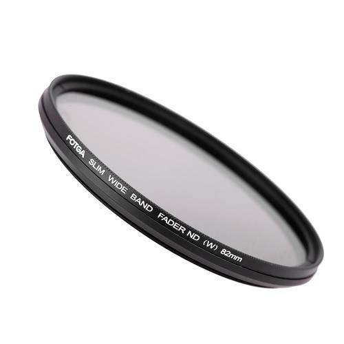 Fotga  82mm NDフィルターレンズ、カメラ用フィルター、光量調節 (減光範囲ND2 → ND400)