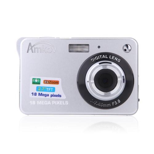 """HD Digitalkamera 18MP 2.7 """"TFT 8x"""