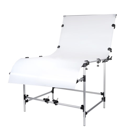 Photo Studio Photography 100 * 200cm Shooting Table for Still Life Product Shooting Aluminum Alloy Frame