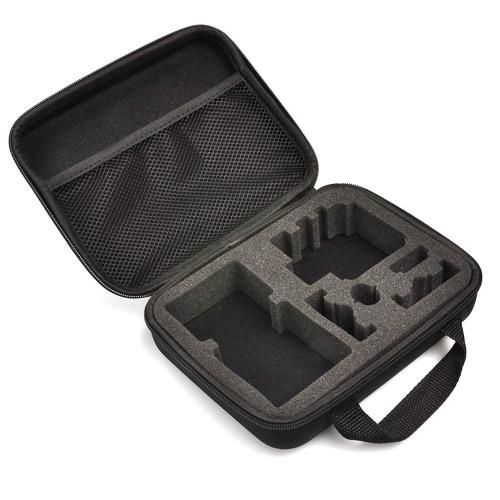 CADeN Protective Case Storage Bag Zippered Polyester Fabric EVA S/L Water-resistant Versatile for GoPro HD Hero 4 3+ 3 2 1 Sport Cameras
