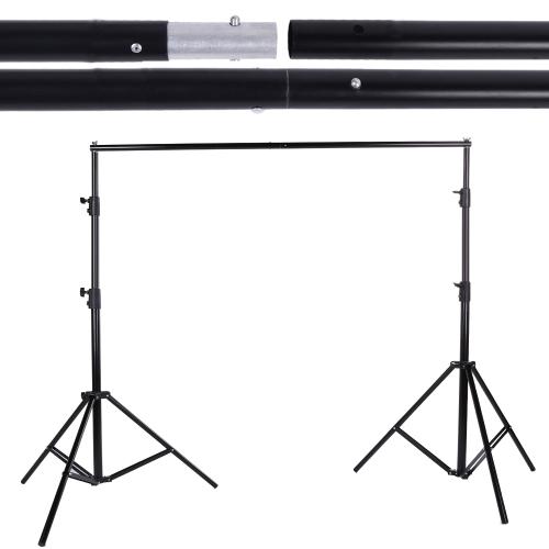 Andoer  2.8 x 3m 組み立て簡単!横幅自由な背景スタンド   撮影用機材 バックグラウンドサポート 三脚 コンパクト収納 人物撮影 商品撮影  簡易スタジオ(スタンドのみ) 並行輸入品