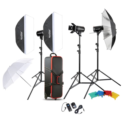 Zestaw Godox Profesjonalna fotografia Photo Studio Lighting Lampa Speedlite Zestaw z (3 *) 300W Studio Flash Strobe Light stoisko softbox Miękkie Reflector Umbrella wrota Wyzwalanie