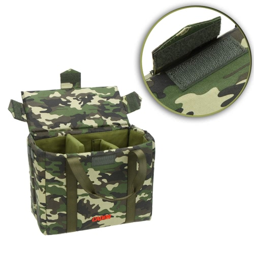 CADeN Camouflage Foldable Folding Shockproof DSLR SLR Camera Lens Photography Inner Protective Bag Case for Sony Canon Nikon Olympus with Divider