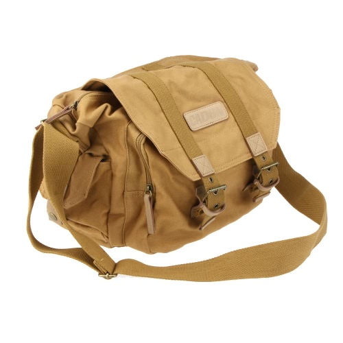 CADeN DSLR SLR Shockproof Camera Photography Protection Shoulder Carrying Canvas Messenger Vintage Casual Bag Case for Sony Canon Nikon Olympus with Inner Bag
