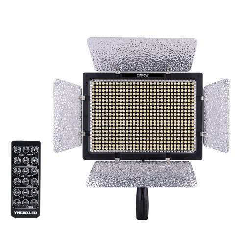 Yongnuo YN600L 600 LED Studio Video Light Lamp Color Temperature Adjustable for Canon Nikon Camcorder DSLR + Power Adapter Remote