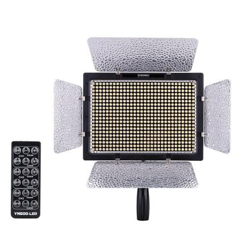 Yongnuo YN600L 600 LED Studio vidéo lampe couleur température réglable pour caméscope de Canon Nikon DSLR + Power adaptateur télécommande