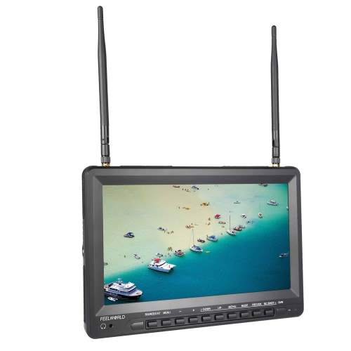 Feelworld FPV1032  FPV 10.1'' HD TFT LCD Monitor 1024 * 600 HDMI Dual Receiver Antenna