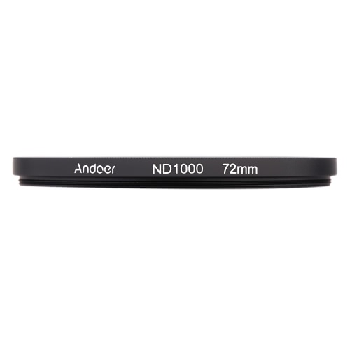 Andoer 72mm ND1000 10 Stop Fader Neutral Density Filter for Nikon Canon DSLR Camera