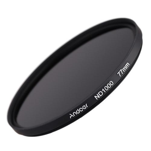 Andoer 77mm ND 1000 10 Fermare Fader Filtro a Densità Neutrale per DSLR videocamera di Nikon Canon
