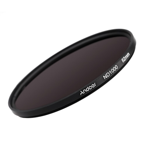 Andoer 82mm ND1000 10 Stop Fader Neutral Density Filter for Nikon Canon DSLR Camera