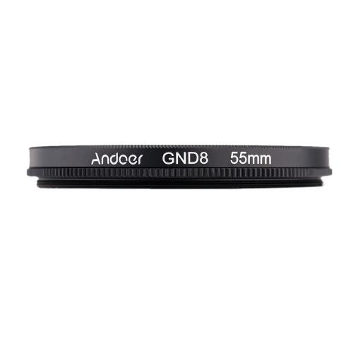 Andoer 55 мм круглой формы окончил окончил серый фильтр нейтральной плотности GND8 для Canon Nikon DSLR камеры