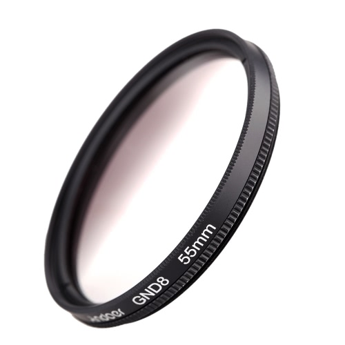 Andeor 55mm Circular Shape Graduated Neutral Density GND8 Graduated Gray Filter for Canon Nikon DSLR Camera