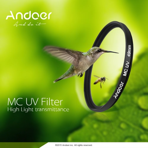 Andoer 55mm Ultrathin Multi-Coated MC UV Ultra-Violet Filter Lens Protector for Canon Nikon DSLR Camera