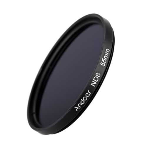 Andoer 55mm Fader ND8 Filter Neutral Density Photography Filter for Nikon Canon Sigma Sony DSLRs
