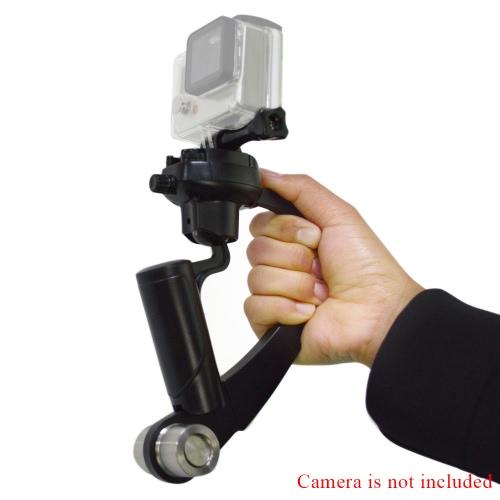 Andoer cámara en mano estabilizador curva compacta videocámara estabilizador para GoPro Hero 4/3 + 3/2/1 negro