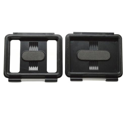 Andoer 2 in 1 Skelett Backdoors mit festen Pin-Block-Wasserdichte Tasche Hintertür + perforierte Hintertür Gehäusedeckel für GoPro Hero3 + / 4 und für neuen Hero3 wasserdichte Kamera Gehäuse