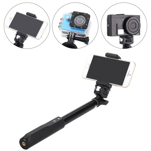Extendable Wireless Bluetooth Remote Shooting Control Shutter Handheld Selfie Self-Timer Rotatable Pole Monopod with Phone Clip 32-95cm / 12.6-37.4in for iPhone 5 6 6plus Samsung Smartphones Gopro SJCAM Sport  DV Compact DSLR Cameras