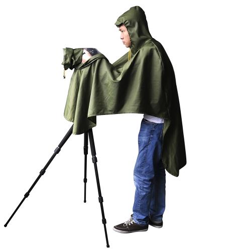 CADeN Camera Rain Cover Coat Dust Rainproof Waterproof Protector Outdoor Rainwear for Canon EOS Nikon Sony Pentax Olympus Fuji DSLR SLR