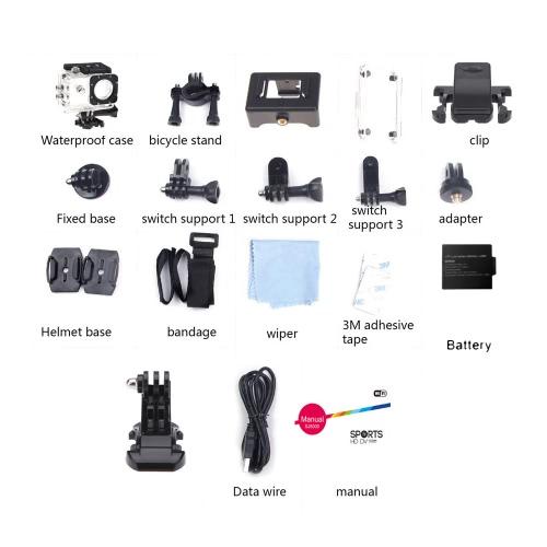 SJCAM SJ5000 действий Спорт водонепроницаемая камера DV НОВАТЭК 96655 14MP 2.0» LCD HD 1080P 170 градусов широкоугольный объектив действий видеокамера DVR FPV