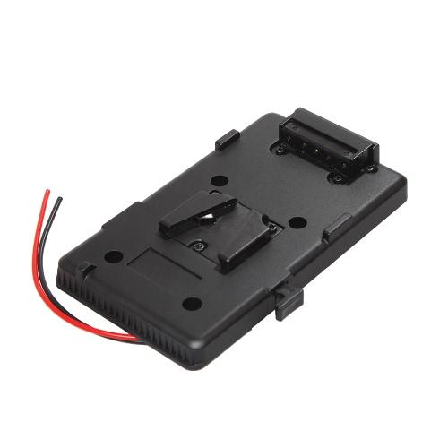 Adaptador de Placa Trasera de Batería para Sony V-zapato V-Montaje V-Bloqueo de Batería Externa para DSLR Cámara Luz de Vídeo