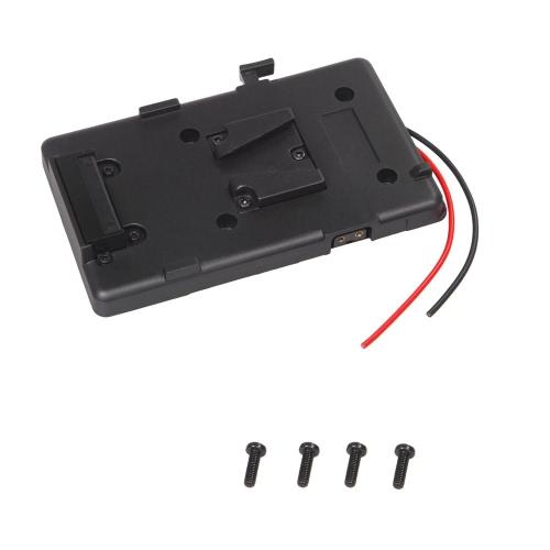 Battery Back Pack Plate Adapter for Sony V-shoe V-Mount V-Lock Battery External for DSLR Camcorder Video Light