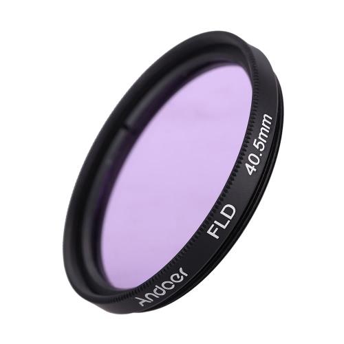 Andoer 40,5 mm UV + CPL + FLD Circular Circular Kit de filtro polarizador filtro fluorescente filtro con bolsa para cámara réflex digital de Nikon Canon Pentax Sony