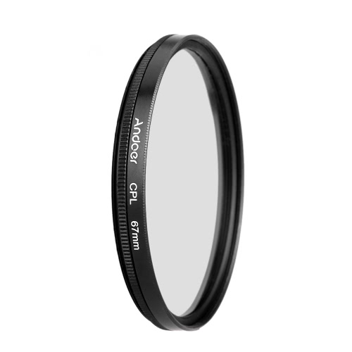 Andoer 67 millimetri UV + CPL + FLD Circolare Kit filtro polarizzatore circolare Filtro fluorescente con il sacchetto per Nikon Canon Pentax Sony DSLR