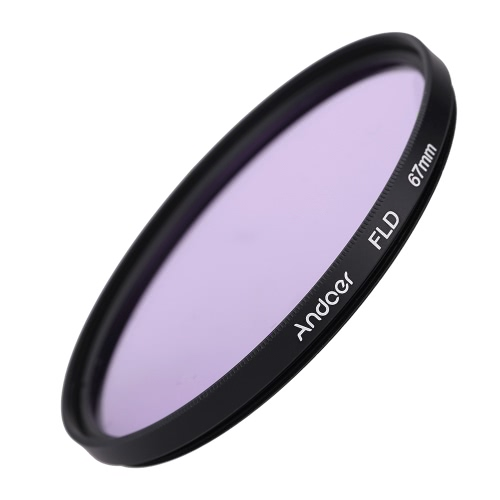 Andoer 67mm UV+CPL+FLD Circular Filter Kit Circular Polarizer Filter Fluorescent Filter with Bag for Nikon Canon Pentax Sony DSLR Camera