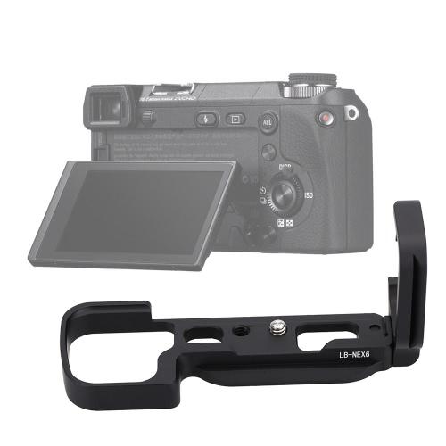LB-NEX6 Black Aluminum Dedicated Camera Quick Release L-Plate Hand Grip Bracket with 1/4