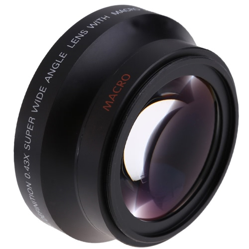 67mm Digital High Definition 0.43×SuPer Wide Angle Lens With Macro Japan Optics for Canon Rebel T5i T4i T3i 18-135mm 17-85mm and Nikon 18-105 70-300VR