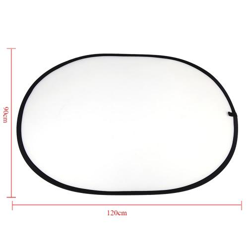 35,4 * 47.2'' / 90 * 120 cm Haltegriff Multi Faltreflektoren Tragbare Ellipse Licht Transparent Reflektor für Fotografie