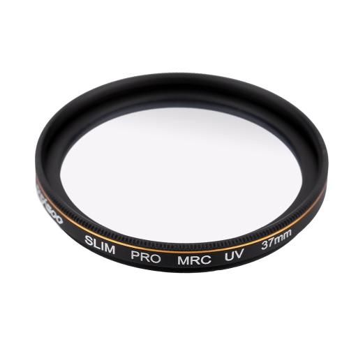 CACAGOO 37mm Pro HD Super Slim MRC UV filtro Alemanha vidro impermeável Nano multi-revestido para Canon Nikon Sony Pentax DSLR câmera