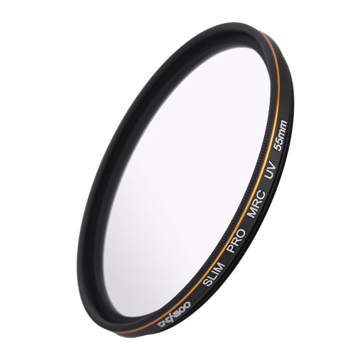 CACAGOO 55mm Pro HD Super Slim MRC UV Filter Germany SCHOTT Glass Waterproof Nano Multi-Coated for Canon Nikon Snoy Pentax DSLR Camera