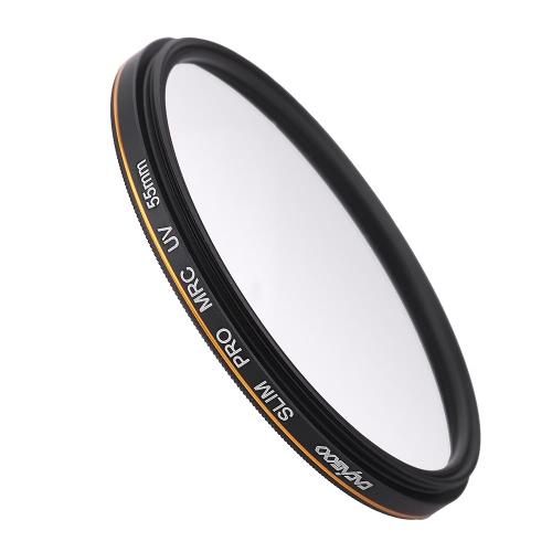 CACAGOO 55mm Pro HD Super  Slim delgado MRC Filtro UV   cristal Alemania a prueba de agua Nano Multi -Coated para Canon Nikon Pentax Sony  DSLR
