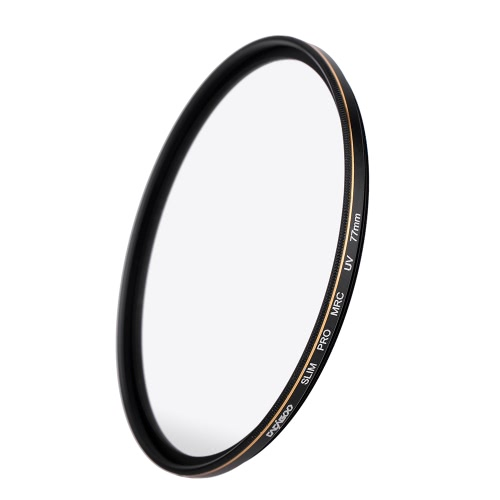 CACAGOO 77mm Pro HD Super Slim MRC UV Filter wasserdicht für Canon Nikon Sony Pentax DSLR Kamera Nano Multi-Coated